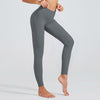 High Waist Fitness Leggings Solid Color -Gray