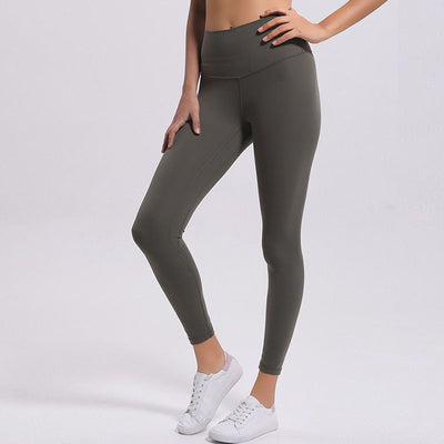 Soft High Waist Yoga Pants -Army Green