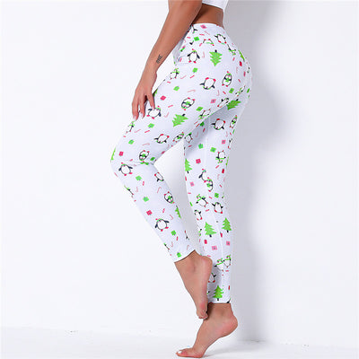 Women Printed Christmas Leggings