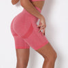Women Yoga Shorts Sports Running Sportswear Fitness Workout Athletic Exercise Gym Lifting High Waist Shorts Activewear -Pink