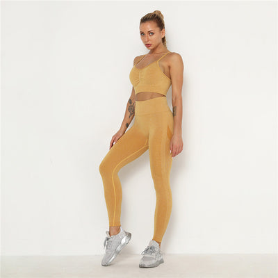 Women's Activewear & Workout Clothes Gym Wear Sports Sets -Yellow