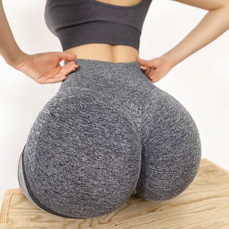Women Yoga Shorts Sports Running Sportswear Fitness Workout Athletic Exercise Gym Lifting High Waist Shorts Activewear -black
