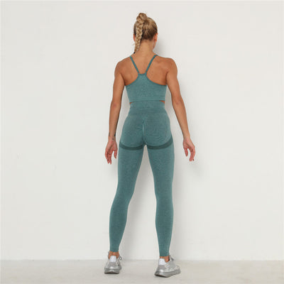 Women's Activewear & Workout Clothes Gym Wear Sports Sets -Green
