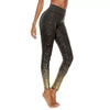 Women Yoga Pants - Sequin Printing Leggings - Black