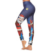 Women Print Christmas Leggings - Blue