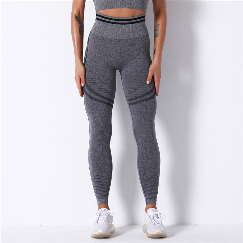 Gym Skinny Seamless Leggings -Gray