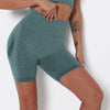 Women Yoga Shorts Sports Running Sportswear Fitness Workout Athletic Exercise Gym Lifting High Waist Shorts Activewear -green