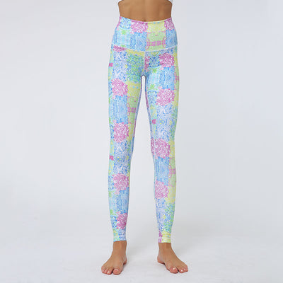 Women Flower Printing Workout Leggings
