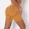 Women Yoga Shorts Sports Running Sportswear Fitness Workout Athletic Exercise Gym Lifting High Waist Shorts Activewear -Yellow