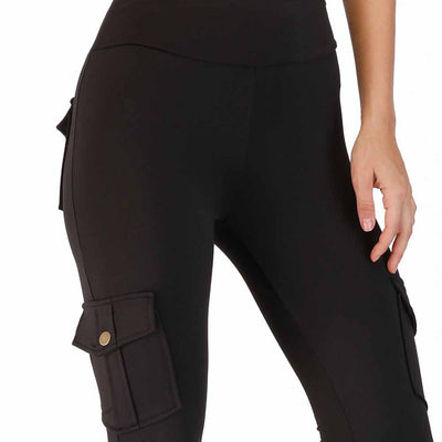 Workout Fitness Leggings With Pockets - Black