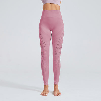 High Waist Gym Seamless Leggings-Purple