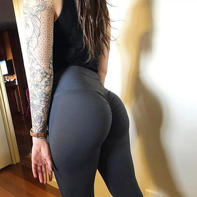 Women High Waist Leggings - Bodybuilding  - Black