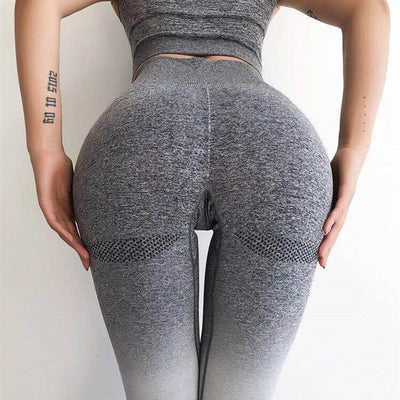 High Waisted Workout Leggings - Gray