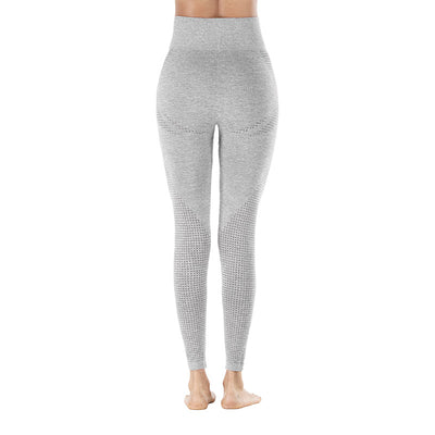 Yoga Sporting Seamless Leggings - Light Gray