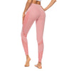 Pink Mesh Leggings With Pockets - Pink