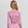 New Seamless Workout Long Sleeve Top - Pink