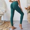 Women Push Up Yoga Pants  High Waist - Dark Green