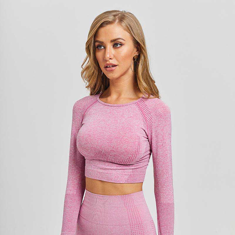 New Seamless Workout Long Sleeve Top