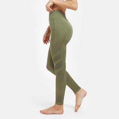 Hip Push Up Yoga Pants Seamless Leggings - Army Green