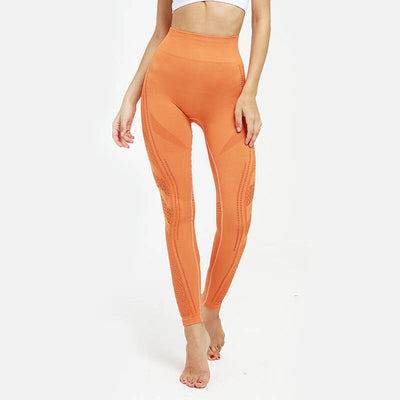 Hip Push Up Yoga Pants Seamless Leggings - Orange