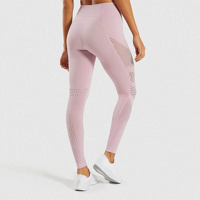 Hip Push Up Yoga Pants Seamless Leggings - Pink