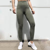 Women Seamless Leggings Hollow Out  - Green