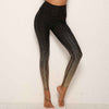 Push Up Leegings Sequin Printed Yoga Pants - Black