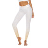 Women Yoga Pants - Sequin Printing Leggings - White