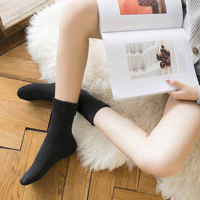 Winter Warm Thicken Thermal Wool Socks - Black