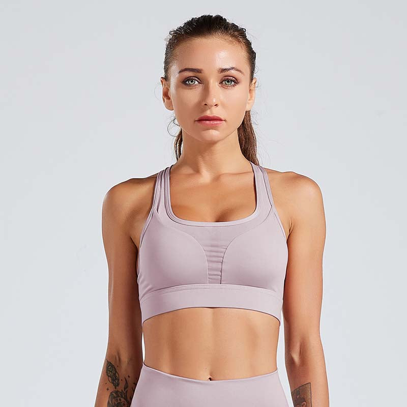 Hollow Out Backless Design Breathable Sports Bra