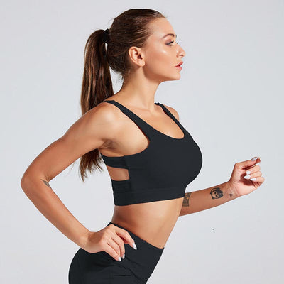 Women Tank Top Fitness Bra Underwear - Black