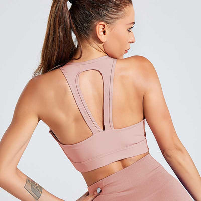 Women Sports Bra Fitness Running Tops - Pink