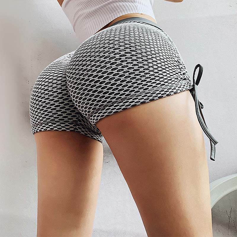 Women Mesh Push Up Shorts Summer Shorts