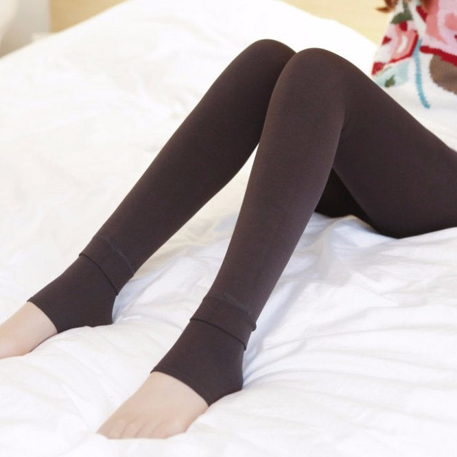 Plus Size 3XL Winter Leggings - Brown