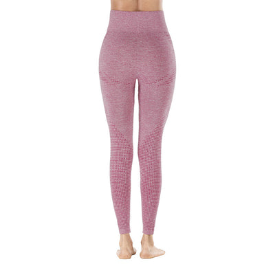 Yoga Sporting Seamless Leggings - Pink