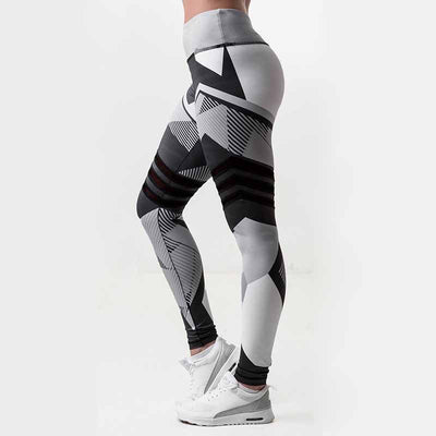 Women High Elasticity Workout Leggings -  Black