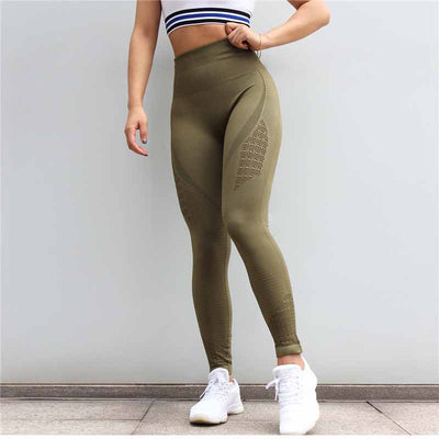Ulsfaar Workout Seamless Leggings - Army Green