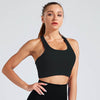 Women Sports Bra Fitness Running Tops - Black