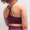 Push Up Seamless Sports Bra - Rose Red