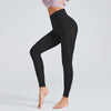 High Waist Gym Seamless Leggings-Black
