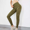 Women Seamless High Waist Leggings Peach Hip - Green