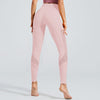 Solid Color Seamless Leggings Yoga Pants - Pink