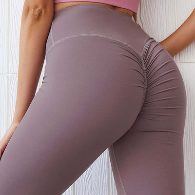 Women Push Up Yoga Pants  High Waist - Purple
