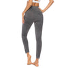 Yoga Sporting Seamless Leggings - Dark  Gray