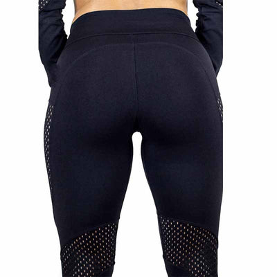 High Waist Sports Workout Leggings - Black