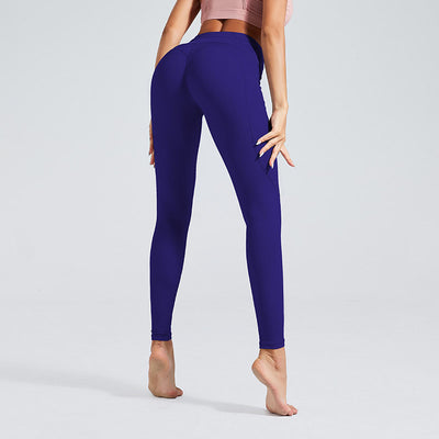 Naked Sensation Yoga Leggings With Pockets - Blue