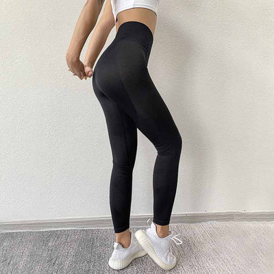 Women High Waist Seamless Legging - Black