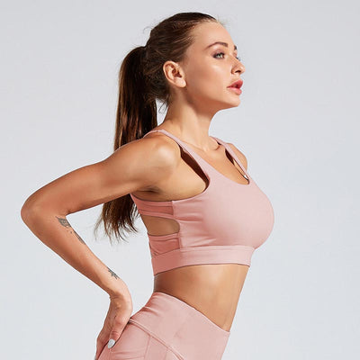Women Tank Top Fitness Bra Underwear - Pink