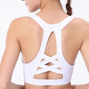 New Workout Sports Push Up Bra - White