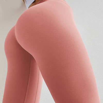 Peach Heart  Leggings Solid color - Orange